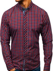 Czerwona koszula Denley z bawełny w street stylu