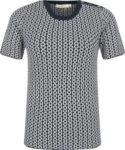 Bluzka Tory Burch z okrągłym dekoltem w stylu casual
