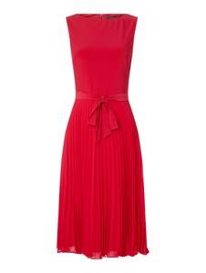 Różowa sukienka Ralph Lauren rozkloszowana bez rękawów