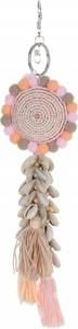 Bijoux Paris Brelok do torebki Sunflower z muszelkami Beżowy (kolory) Akcesoria do Torebek