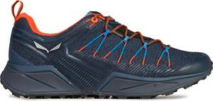Granatowe buty trekkingowe Salewa z goretexu sznurowane
