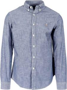 Niebieska koszula Ralph Lauren z długim rękawem