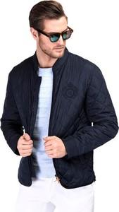 Granatowa kurtka giacomo conti w stylu casual