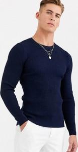 Granatowy sweter Asos