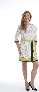 Sukienka Lavard z tkaniny z okrągłym dekoltem w stylu casual