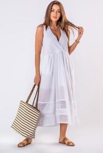 Sukienka Ptakmoda.com bez rękawów kopertowa