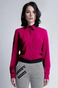 Różowa koszula Lanti z długim rękawem