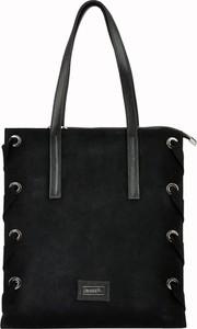 5eb691ad32e7c torebki damskie zamszowe czarne - stylowo i modnie z Allani