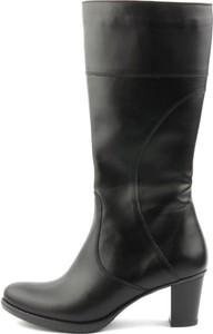 Czarne kozaki Agxbut przed kolano w stylu klasycznym na obcasie