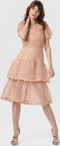 Sukienka born2be z krótkim rękawem midi