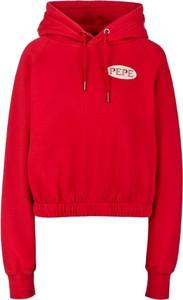 Czerwona bluza Pepe Jeans z bawełny