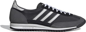 Czarne buty sportowe Adidas z zamszu w sportowym stylu