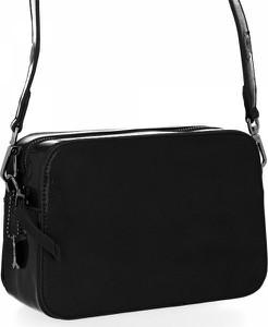 Czarna torebka Diana&Co lakierowana duża w stylu glamour