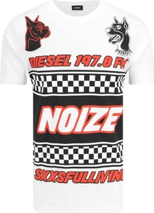 T-shirt Diesel z krótkim rękawem w młodzieżowym stylu