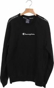Czarna koszulka z długim rękawem Champion z długim rękawem w sportowym stylu