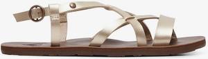 Złote sandały Roxy