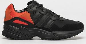 Czarne buty sportowe Adidas Originals z zamszu sznurowane