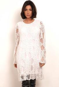 Sukienka Plus Size Fashion z okrągłym dekoltem
