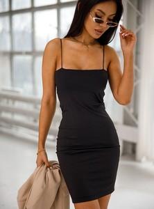 Czarna sukienka SELFIEROOM mini dopasowana
