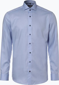 Niebieska koszula Eterna z długim rękawem