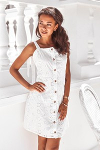 3c483ff1 sukienka biała góra czarny dół - stylowo i modnie z Allani