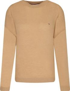 Brązowy sweter Tommy Hilfiger z wełny
