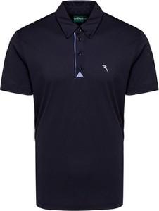 Granatowa koszulka polo Chervo z tkaniny