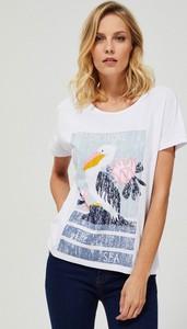 T-shirt Moodo w młodzieżowym stylu z bawełny