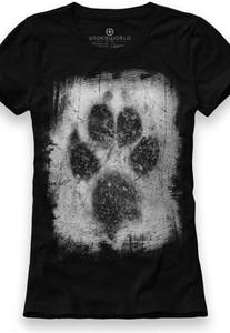 T-shirt Underworld w młodzieżowym stylu z krótkim rękawem ze skóry ekologicznej