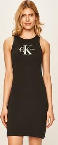 Sukienka Calvin Klein z bawełny bez rękawów
