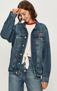 Kurtka Tommy Jeans krótka z bawełny