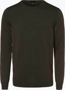 Zielony sweter BOSS Casual z kaszmiru