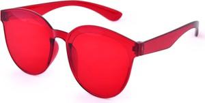 Dedra Tęczowe okulary przeciwsłoneczne, 100% ochrona UV czerwone, UV400