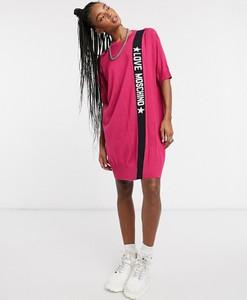 Różowa sukienka Love Moschino mini oversize