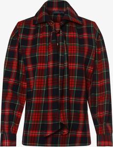 Czerwona koszula POLO RALPH LAUREN z kołnierzykiem z bawełny z długim rękawem