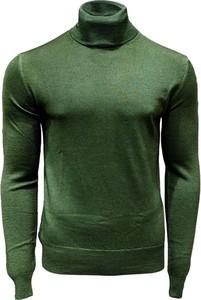 Zielony sweter Fradi w stylu casual z dżerseju
