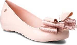 Różowe baleriny Melissa z płaską podeszwą