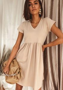 Sukienka Latika mini z bawełny z krótkim rękawem