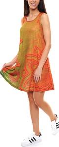 Sukienka Grupa Ventus w stylu casual z okrągłym dekoltem