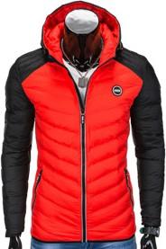 Czerwona kurtka Ombre Clothing