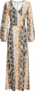 Sukienka bonprix BODYFLIRT kopertowa maxi z dekoltem w kształcie litery v