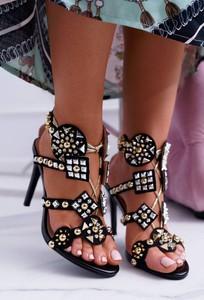 Czarne sandały Lu Boo z zamszu