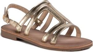 Złote buty dziecięce letnie Nelli Blu