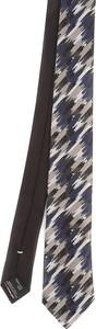 Brązowy krawat Missoni