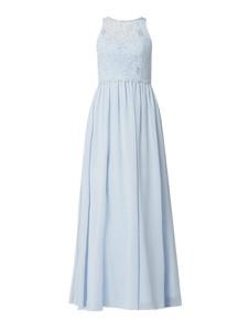 Niebieska sukienka Mascara z szyfonu