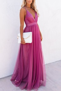Różowa sukienka IVET maxi