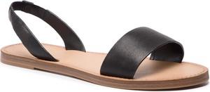 Czarne sandały Aldo w stylu casual z płaską podeszwą