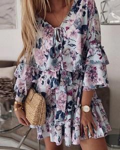 Sukienka Kendallme mini w stylu boho oversize