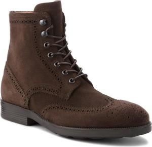 Buty zimowe Fabi z zamszu sznurowane