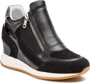 Czarne buty sportowe Geox